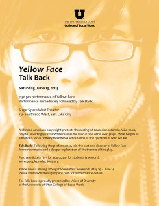 Yellow Face Talk Back - June 2015